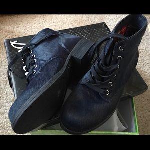 SAM EDELMAN Bleecker Calf Hair Combat Boots ~ NIB